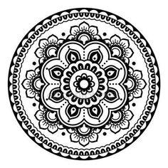 Скачать - Индийская, цветочные тату хной Менди круглый шаблон — стоковая иллюстрация #73846961