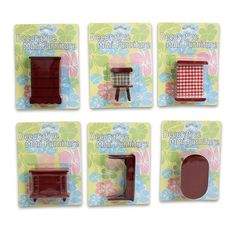 Muebles en Miniatura de Juguete de Madera Dollar Tree Store, Dollar Stores, Wood Furniture, It Is Finished, Toys, Red, Inspiration, Chair, Miniature Furniture