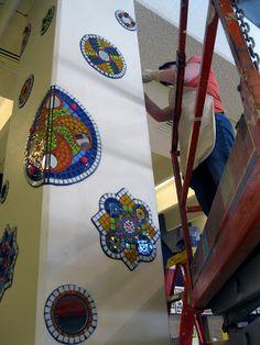 Mosaic mandalas FINALLY FOUND DESIGN FOR MY HOT TUB PILLARS!!!!!!!!!!!!!!!!!!!!!!!!!!!!!!!!!!!