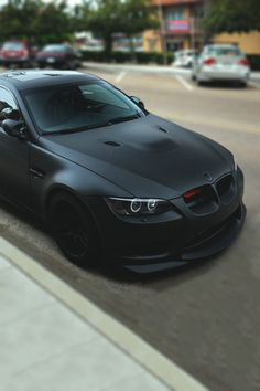 Matte black BMW E92 M3.