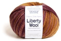 Liberty Wool some lovely colours in this yarn and also prints. Worsted. Also comes in fingering. I think it would be nice for fair isle