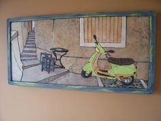 Tile mosaic by artist Chris Sumka.