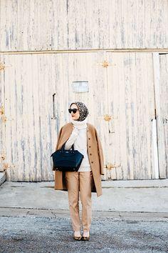 J. Crew Camel Coat-Turtleneck Sweater-Ryan-Fit Italian Flannel Pant-Leopard Hijab-DVF Leopard Heels-Black Kate Spade Blog-MAC Ruby Woo Lipstick-ASOS Cat Eye Sunglasses-Hijabi Blogger-Katie Vee Photography