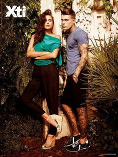 Hilary Blonde: Irina Shayk muestra los nuevos estilos de sandalias de Xti Shoes primavera-verano 2015