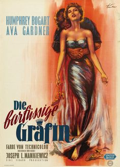 German poster for THE BAREFOOT CONTESSA (Joseph L. Mankiewicz,...