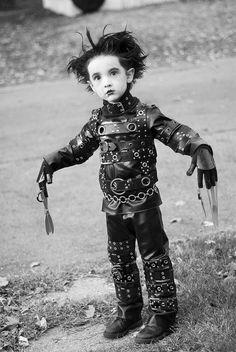A little Edward Scissorhands! So adorable!