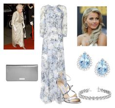 """""""Princess Elizabeth at Dinner Reception with Granny"""" by royal-fashion ❤ liked on Polyvore featuring Erdem, JULIANNE, Allurez, Jimmy Choo and Henri Bendel"""
