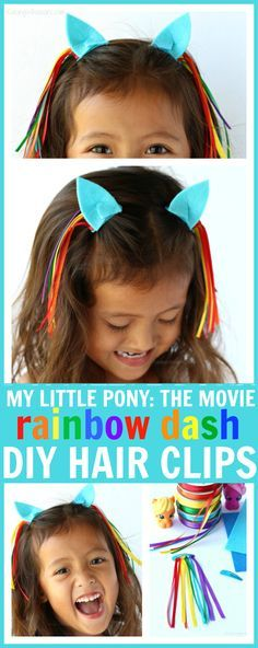 No Sew DIY My Little Pony Hair Clips to Celebrate My Little Pony: The Movie, in theaters 10/6 - Raising Whasians #MyLittlePonyMovie #ad