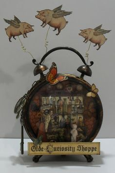 """Graphics45 """"Old Curiosity Shoppe"""" Clock Assemblage"""
