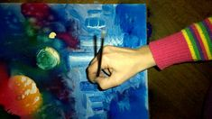 Fast spray and paintbrush space painting part 2 Space Painting, Paint Brushes, Watch, Bracelet Watch, Clocks, Makeup Brushes, Wrist Watches