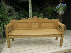 400GBP 98x189x52 !!!!!!!! pine GORGEOUS-OLD-ANTIQUE-VICTORIAN-EDWARDIAN-PINE-HUNGARIAN-MONKS-BENCH-SETTLE-PEW