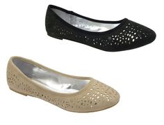 Ladies New Flat Casual Cutout Loafer Ballerina Dolly Pumps Shoes by Odeon