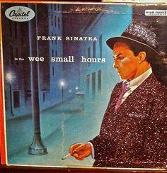 Glittered vintage record album cover