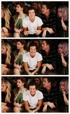 Awww, too cute! Harry Styles at the Henry Holland Fashion show in London w/ Nick Grimshaw! xx :)