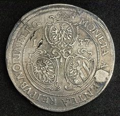 Coins Numismatics | World Coins | Gold Coins | Silver Coins | Coin Collecting as an Investment: German States Coins Nurnberg Silver Thaler 1637 - Ferdinand II, Holy Roman Emperor