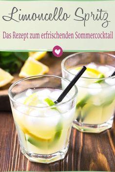Limoncello Spritz schmeckt herrlich erfrischend nach Urlaub. #rezept #limoncellospritz #cocktail #limoncello