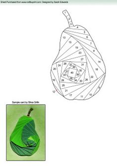 Home : Iris Folding : Various : Pear Iris Folding Pattern