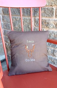 Cushion Cover Brown Deer with yellow and by MayamisworldAprons