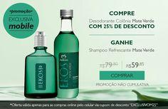 SÓ HOJE!   Compre Desodorante Colônia Mate Verde Ekos com 25% de desconto e ganhe um shampoo refrescante Mate Verde. Por R$ 59,85 na compra online feita pelo celular.  #natura #ekos #naturaekos #perfume #fragrância #perfumaria #perfumarianatura #promoção #desconto #sohoje #brinde #redenatura #compraonline   http://rede.natura.net/espaco/spacofabi/desodorante-colonia-mate-verde-ekos-100ml-pid29659
