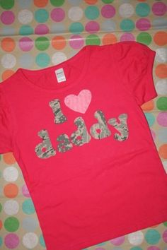 I Heart Daddy  Welcome daddy or mommy home by mylittlelegacies, $32.95