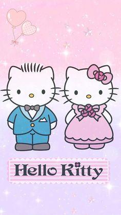 Hello Kitty and Dear Daniel Hello Kitty Art, Hello Kitty Images, Hello Kitty Items, Hello Kitty Backgrounds, Hello Kitty Wallpaper, Hello Kitty Wedding, Hello Sanrio, Wedding Doll, Hello Kitty Collection