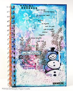 Winter Art Journal by Meihsia for the Simon Says Stamp Monday challenge (Winter Stamping)
