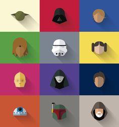 Fã cria ilustrações minimalistas de Star Wars
