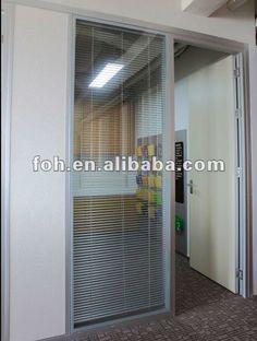 office partition project movable partition aluminium frame glass partition(FOHTX-129) $80~$120