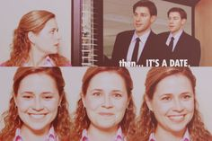 Her face after that question told the truth of it all aand that is that she had been lying all day (probably even to herself) when she was reassuring that she would be fine if/when Jim left again.  Just adore how you actually see like dozens of emotions flit across Pam's face here.  Oh and the tears in her eyes kill me in the very best way!