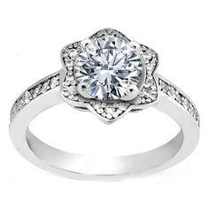 Star of David Diamond Engagement Ring