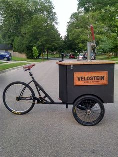 Velostein cold-brewed nitro cargo bike. Madison, WI
