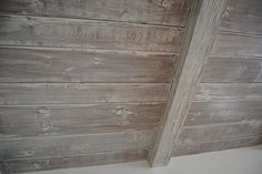 lime/white wash wood ceiling via rough lux