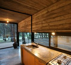 I imagine can see the rain, the snow, feel the nice breeze while cooking. Awesome!