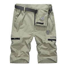 Only US$35.99 , shop AFSJEEP Zipper Pocket Cargo Shorts Mens Fashion Casual Straight Leg Pants Plus Size 30-50 at Banggood.com. Buy fashion Shorts online.