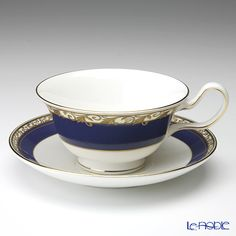 Wedgwood Rococo tea cup and saucer (Peony)