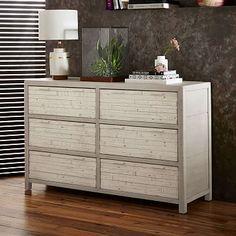 Bay Reclaimed Pine 6-Drawer Dresser - Whitewashed | west elm