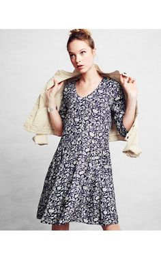 72fc50c445 Bohemian Pocket-Detail Dress from Garnet Hill. Love the easy fit and subtle  floral prints.