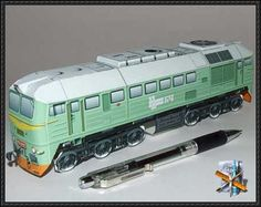 Diesel Locomotive M62 Free Train Paper Model Download - http://www.papercraftsquare.com/diesel-locomotive-m62-free-train-paper-model-download.html …