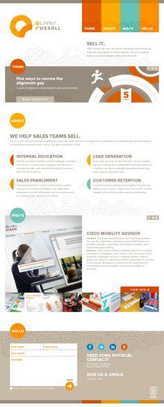 Web design inspiration 2.0: Oliver Russel