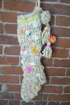 Holiday Stocking, Knit Collage :: So fun