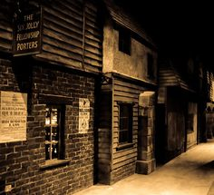 A street in London's Dickens World