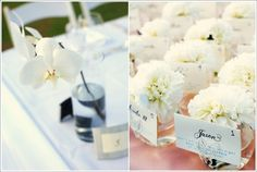 Love these small arrangements as place cards