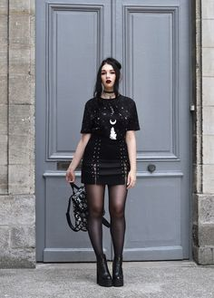 Exhilarating Jewelry And The Darkside Fashionable Gothic Jewelry Ideas. Astonishing Jewelry And The Darkside Fashionable Gothic Jewelry Ideas. Style Outfits, Gothic Outfits, Grunge Outfits, Alternative Outfits, Alternative Fashion, Alternative Style, Style Indie, Style Grunge, My Style