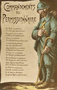 1914 - 18 - Les commandements du permissionnaire