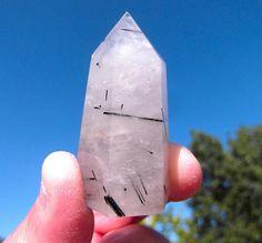 Tourmalinated Quartz Crystal by Starshine Beads on Etsy