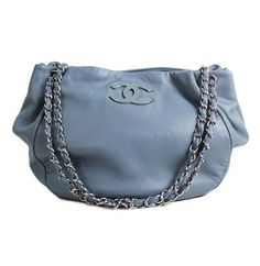 05f72824b5ff83 Chanel Blue Lambskin Large Sensual Shopping Tote Bag. Pia Loncho · Chanel  handbags outlet