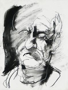 Tim Dayhuff - drawing - charcoal and white pastel on paper - 11x14 in - Nov 2014