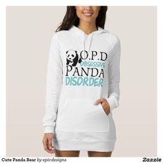 Teal Panda Bear Hoodie American Apparel Dress is so cute! Obsessive Panda Disorder.