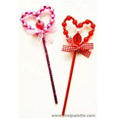 A Beaded Valentine Wand is the perfect tool for a princess to bestow her love on her subjects on Valentines Day.