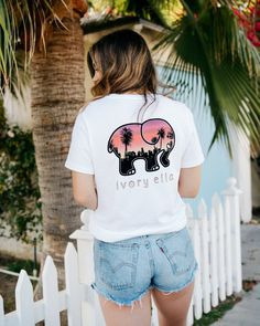 d80669f9aeeb6 Ella Fit White Sunset In The City Tee